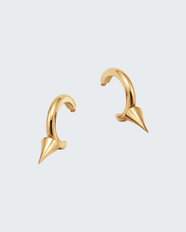 18k Gold Spiked Hoop Earrings