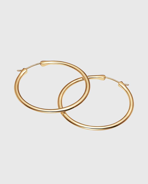 18k Gold Classic Hoop Earrings