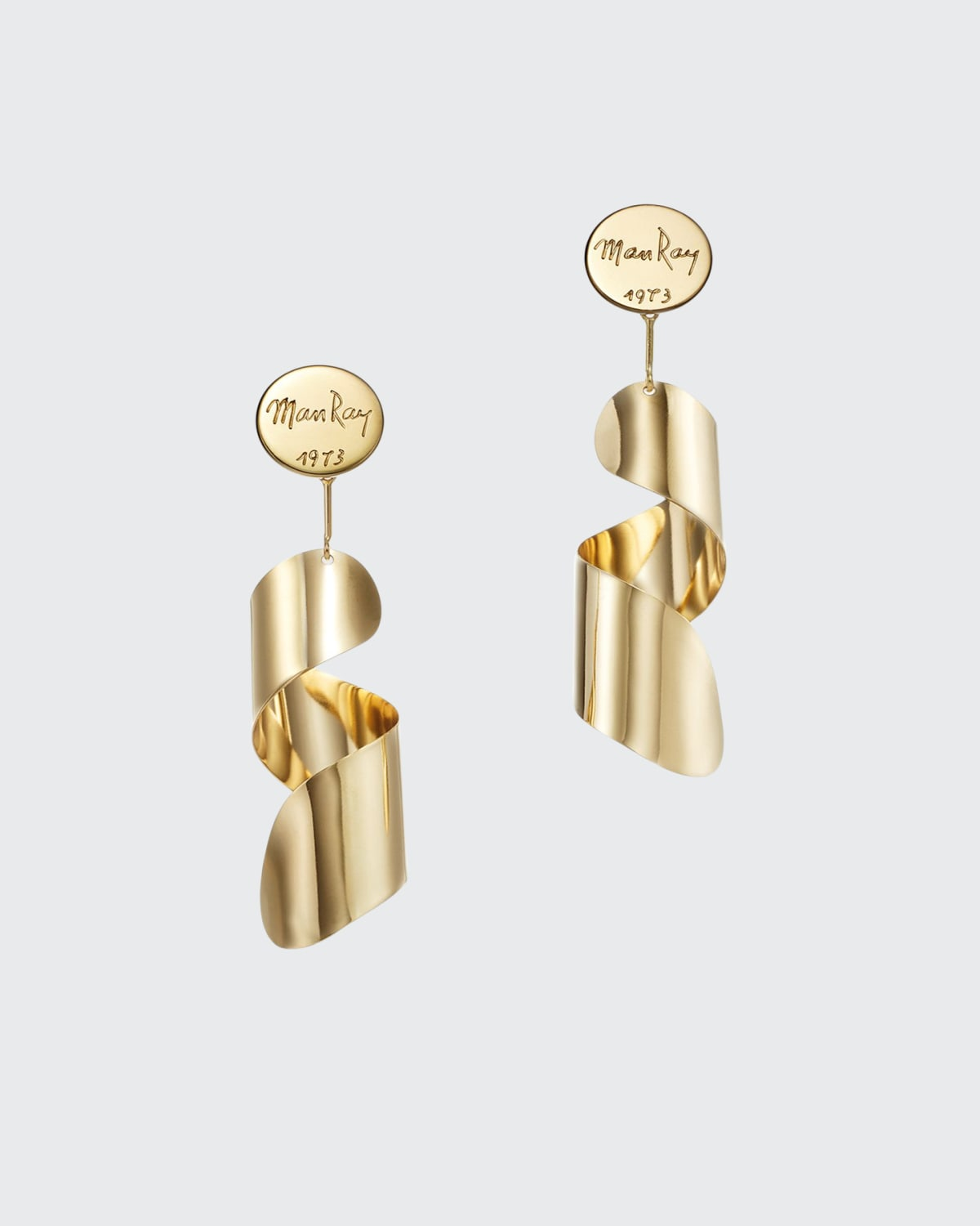 Lampshade 18K Fairmined Ecological Yellow Gold Earrings