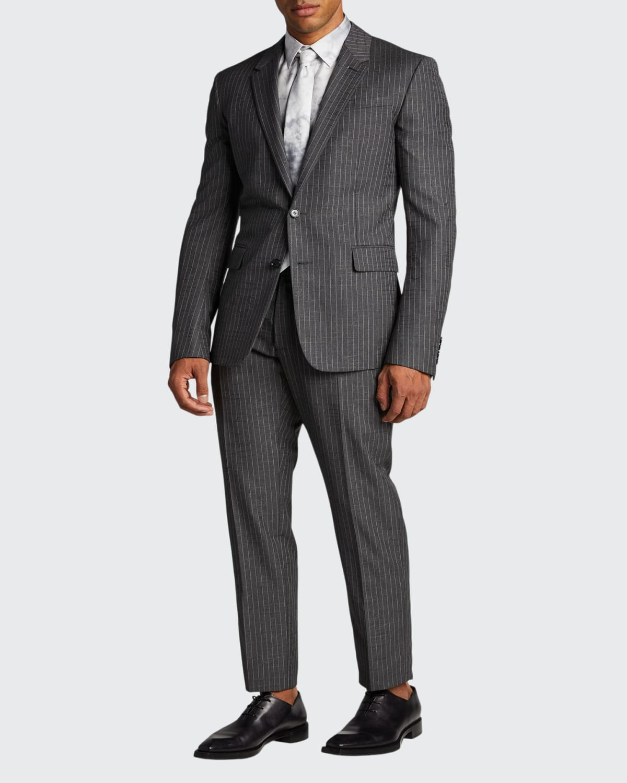 Men's Pinstriped Two-Piece Suit