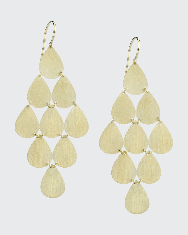 18k Yellow Gold 9 Drop Chandelier Earrings