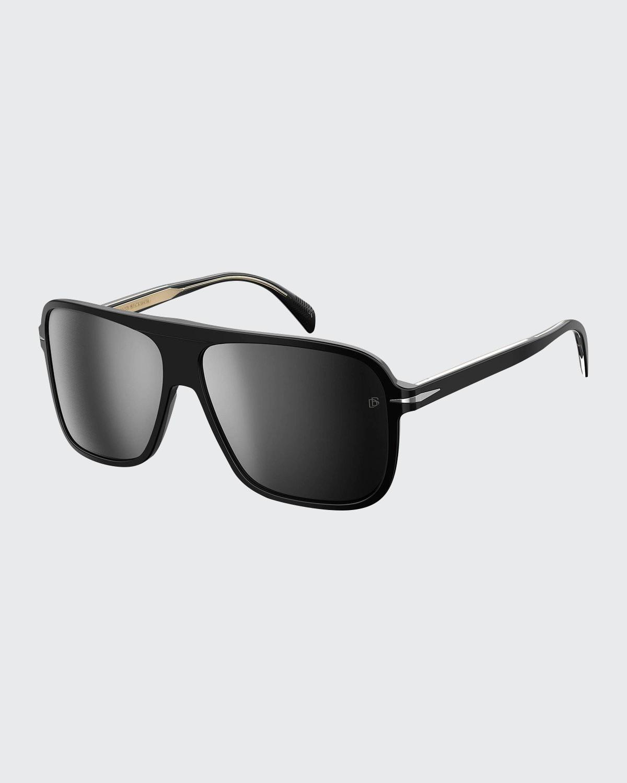 Men's Square Patterned Acetate Sunglasses