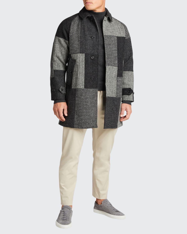 Men's Harris Patchwork Wool Tweed Overcoat