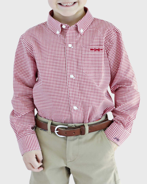 Gingham Shirt - Monogram Option, Size 4/5-18