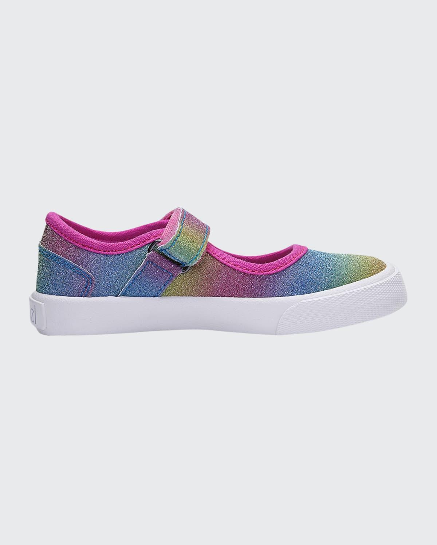 Girl's Dazzler Mary Jane Rainbow Ombre Sneakers