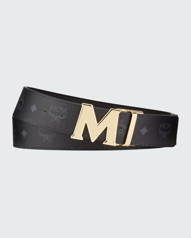Men's Claus Monogram Reversible Belt