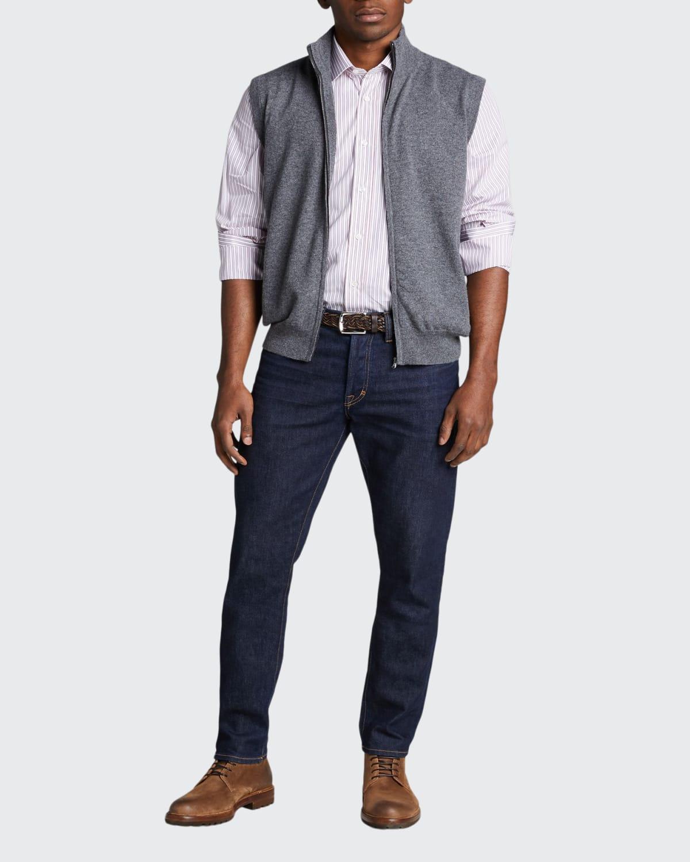 Men's Zip Cashmere Vest w/ Pockets