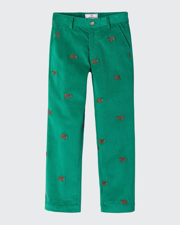 Boy's Gavin Embroidered Corduroy Pants