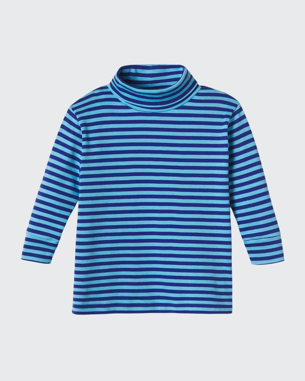 Boy's Patrick Striped Turtleneck Shirt