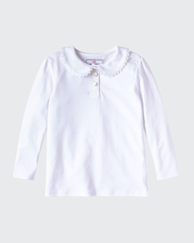 Girl's Sarah Ruffle Collar Polo Shirt