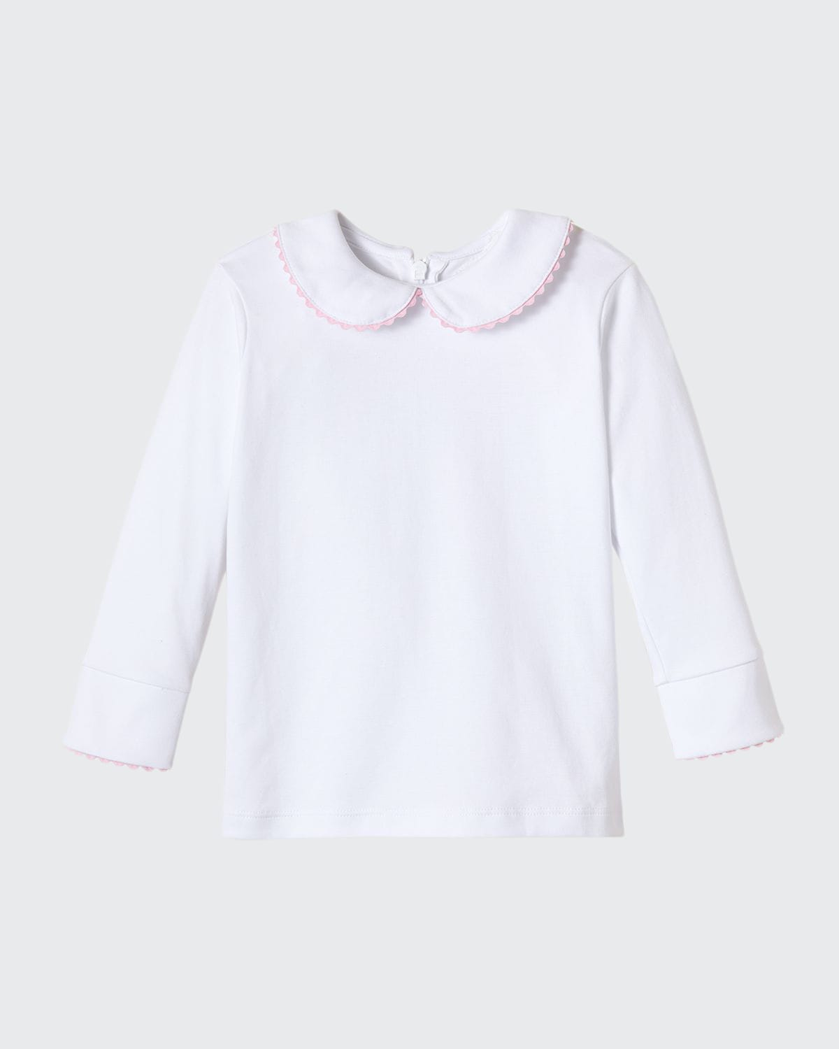 Girl's Isabelle Scallop-Trim Shirt