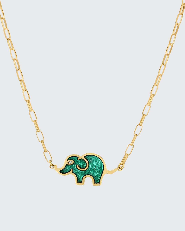 Elephant Enamel Necklace