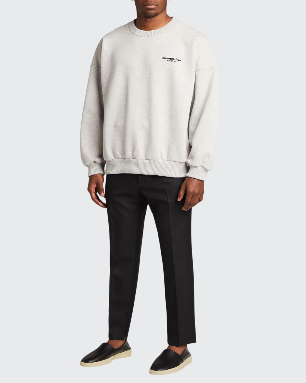 Men's x Zegna Solid Wool Single-Pleat Trousers