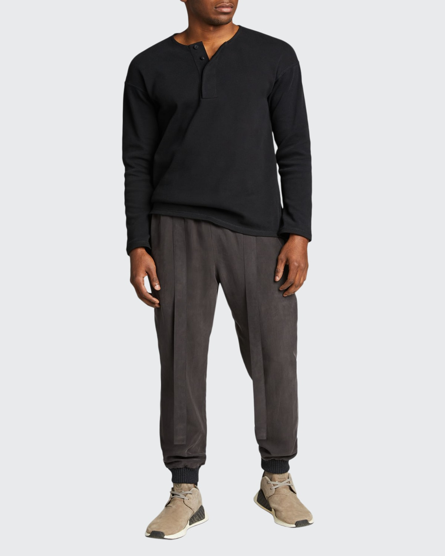 Men's Knitted Henley T-Shirt