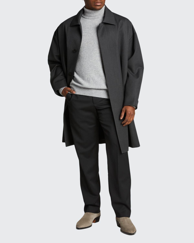 Men's Oversized Wool Trench Coat