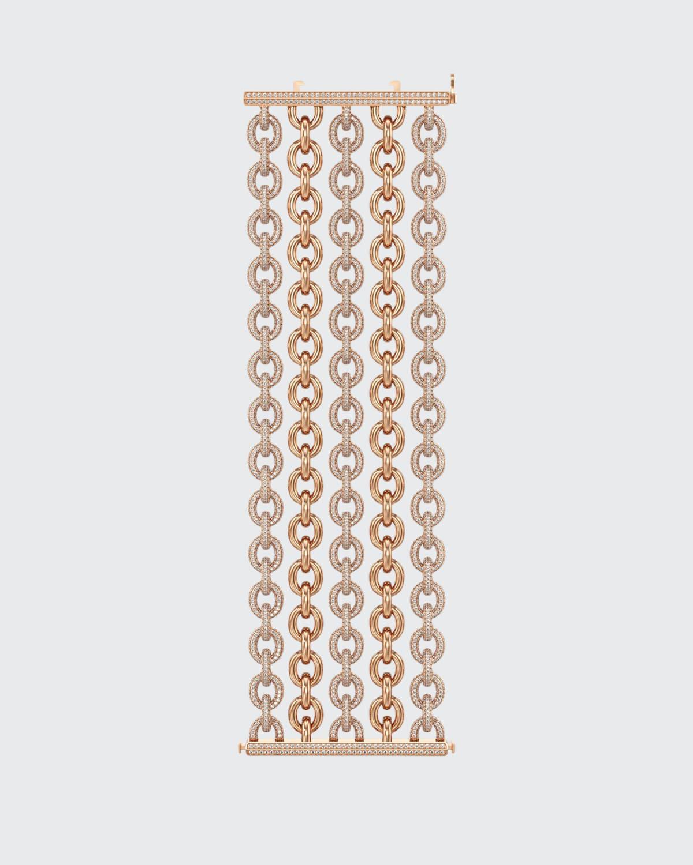 18k Rose Gold Diamond 5-Row Bracelet