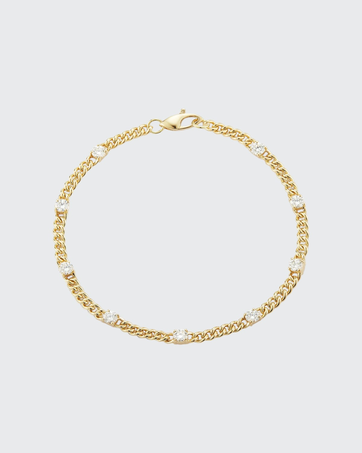Gold Toujours Small Curb Link Bracelet