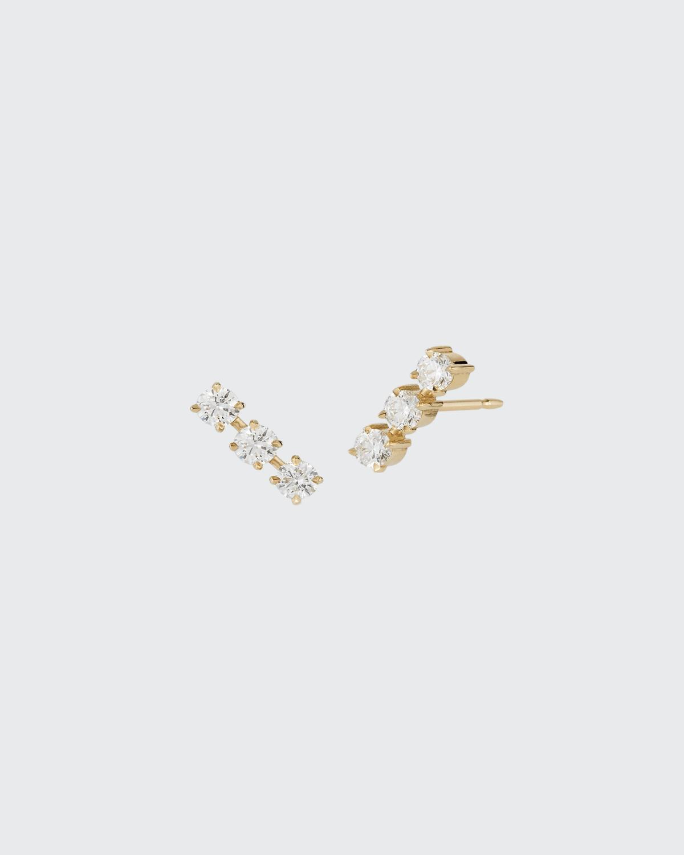 Yellow Gold Toujours Triple Prong Set Pair Of Diamond Studs. 1.0 ct. Diamond