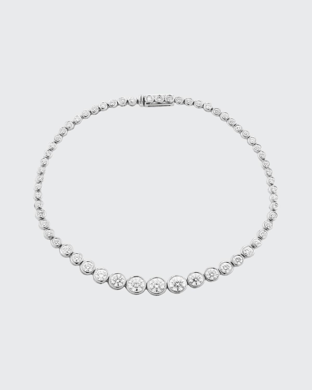 Prive Luxe White Gold Diamond Tennis Bracelet