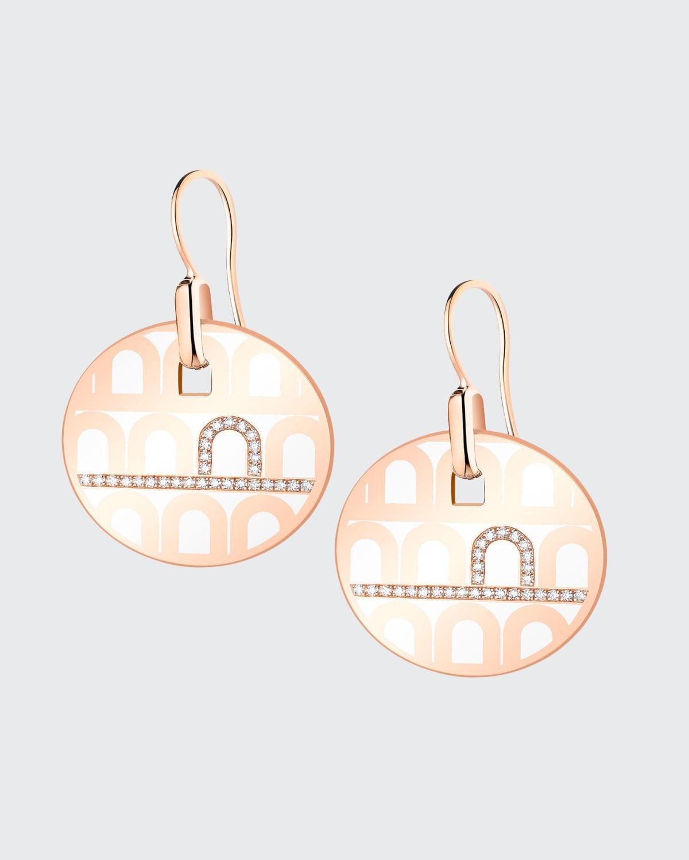 18k Rose Gold Porta Diamond Drop Earrings