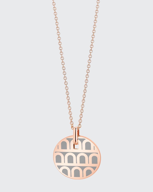 18k Rose Gold Ceramic L'Arc Necklace