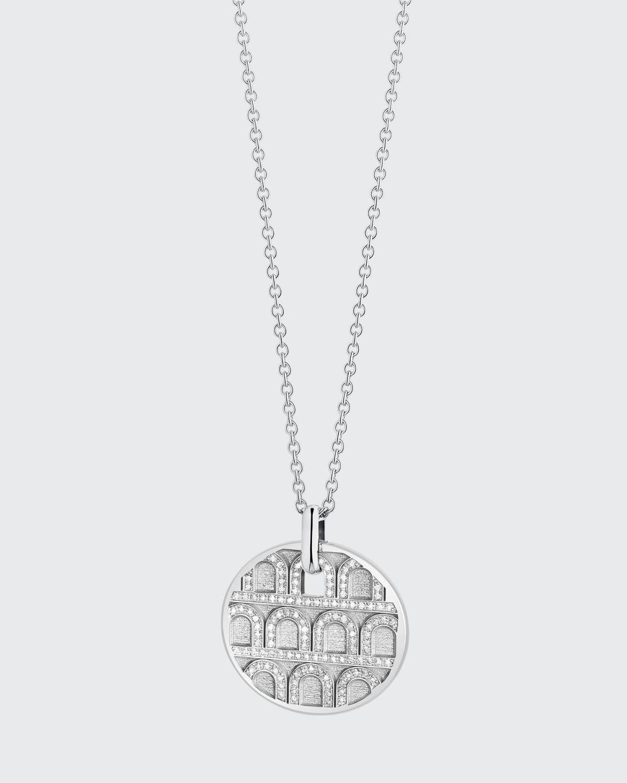 18k White Gold Diamond L'Arc Necklace