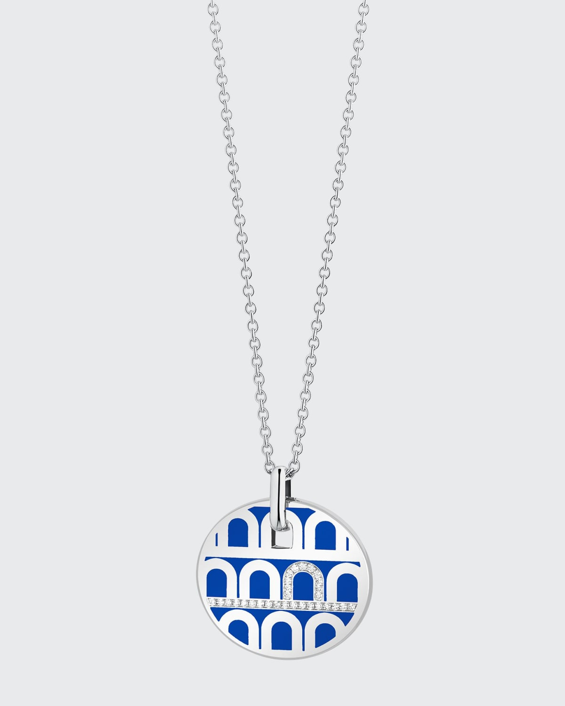18k White Gold Ceramic and Diamond L'Arc Necklace