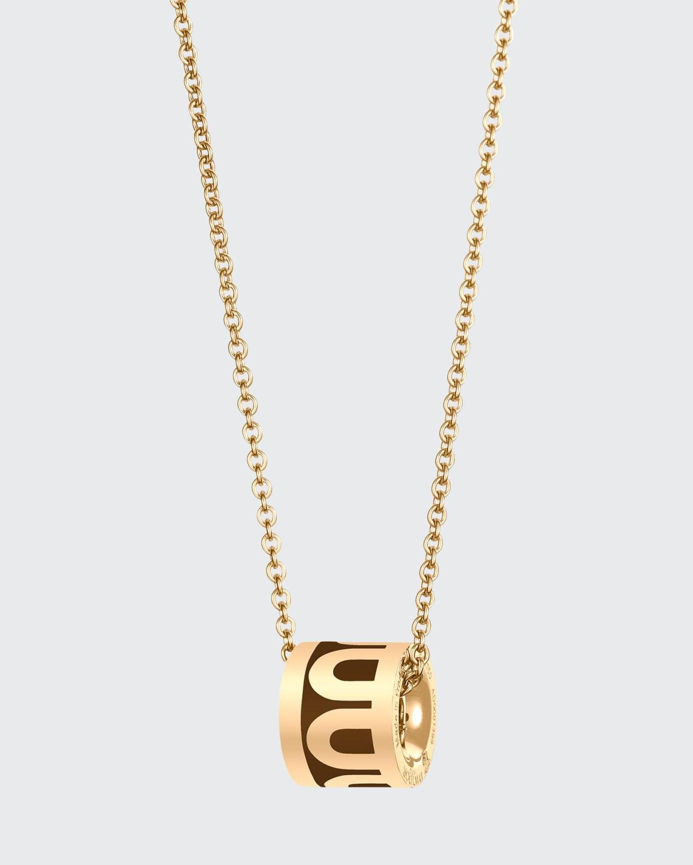 18k Yellow Gold Ceramic L'Arc Bead Necklace