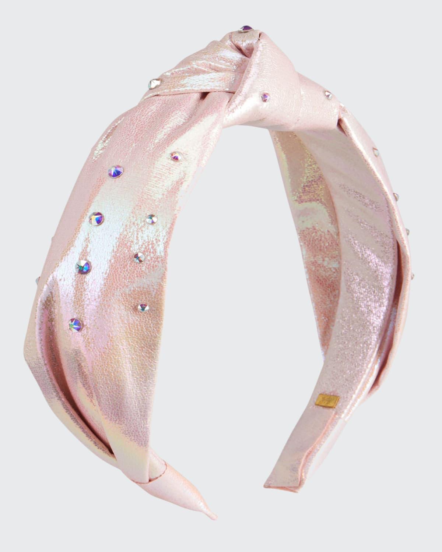 Girl's Metallic Knotted Headband w/ Swarovski Crystals
