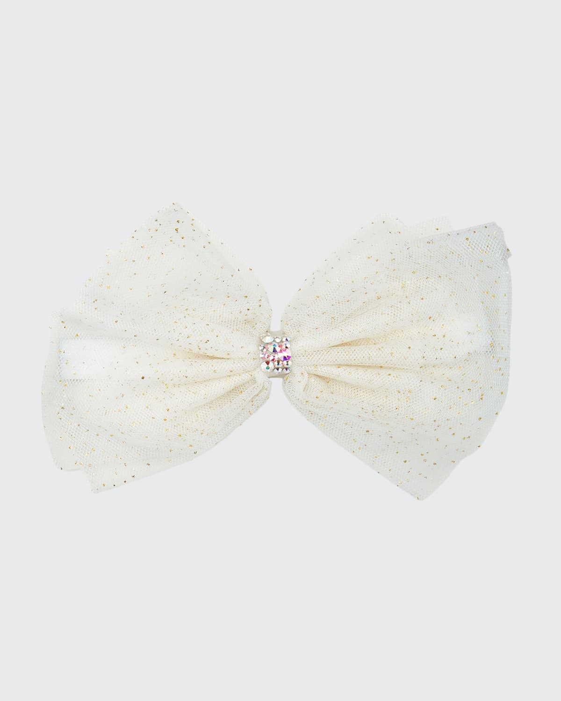 Baby's Tulle Bow w/ Swarovski Crystal