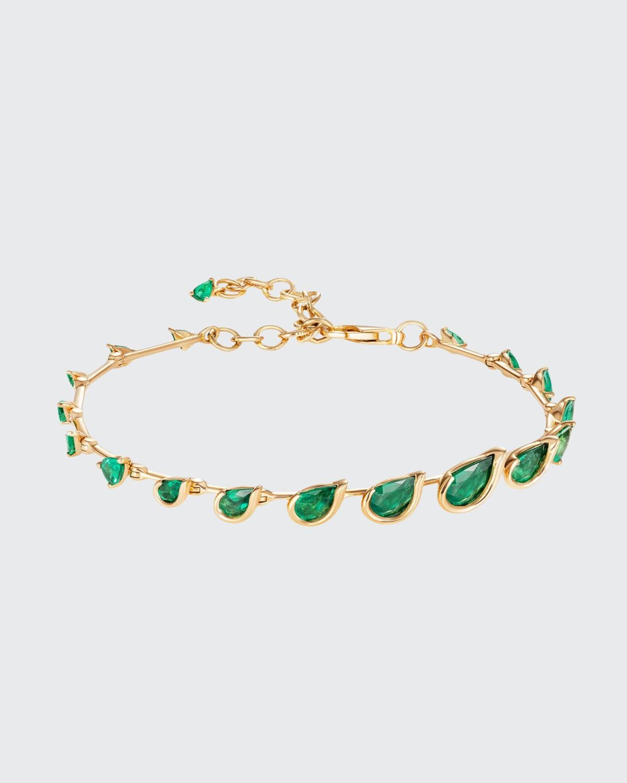 Flicker Emerald Bracelet in 18K Yellow Gold