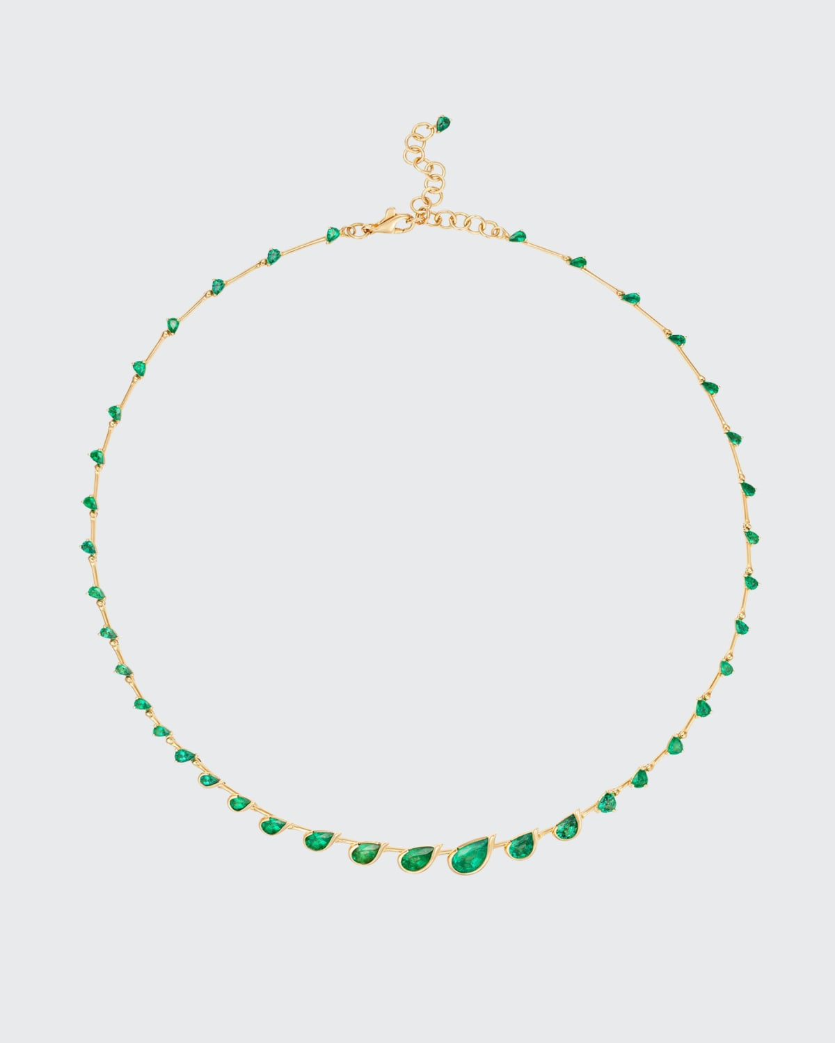 Flicker Emerald Necklace in 18K Yellow Gold