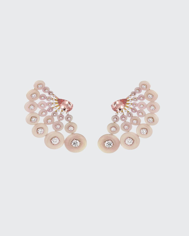 Astro Earrings in 18K Rose Gold Diamonds