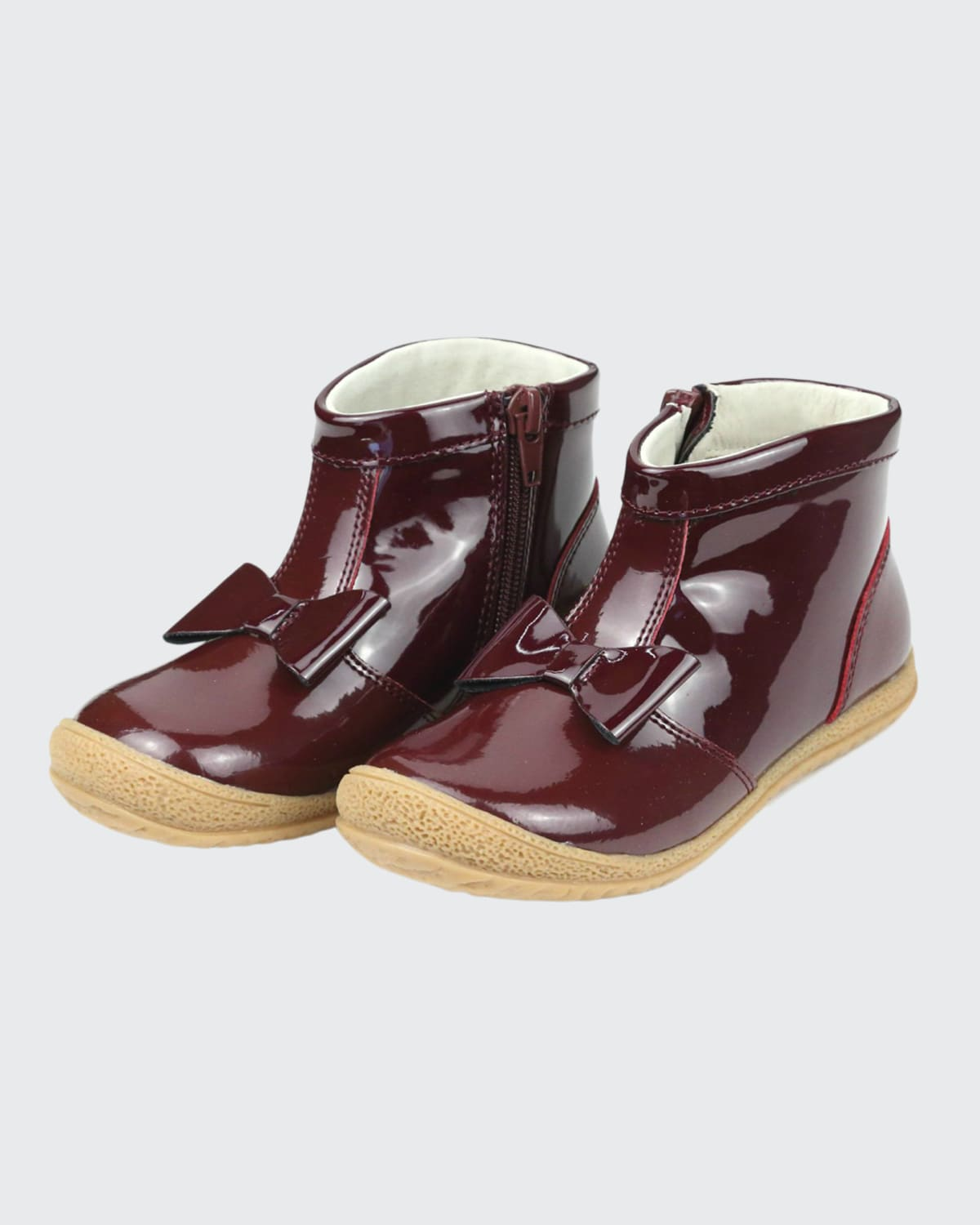 Girl's Hilary Bow Patent Booties