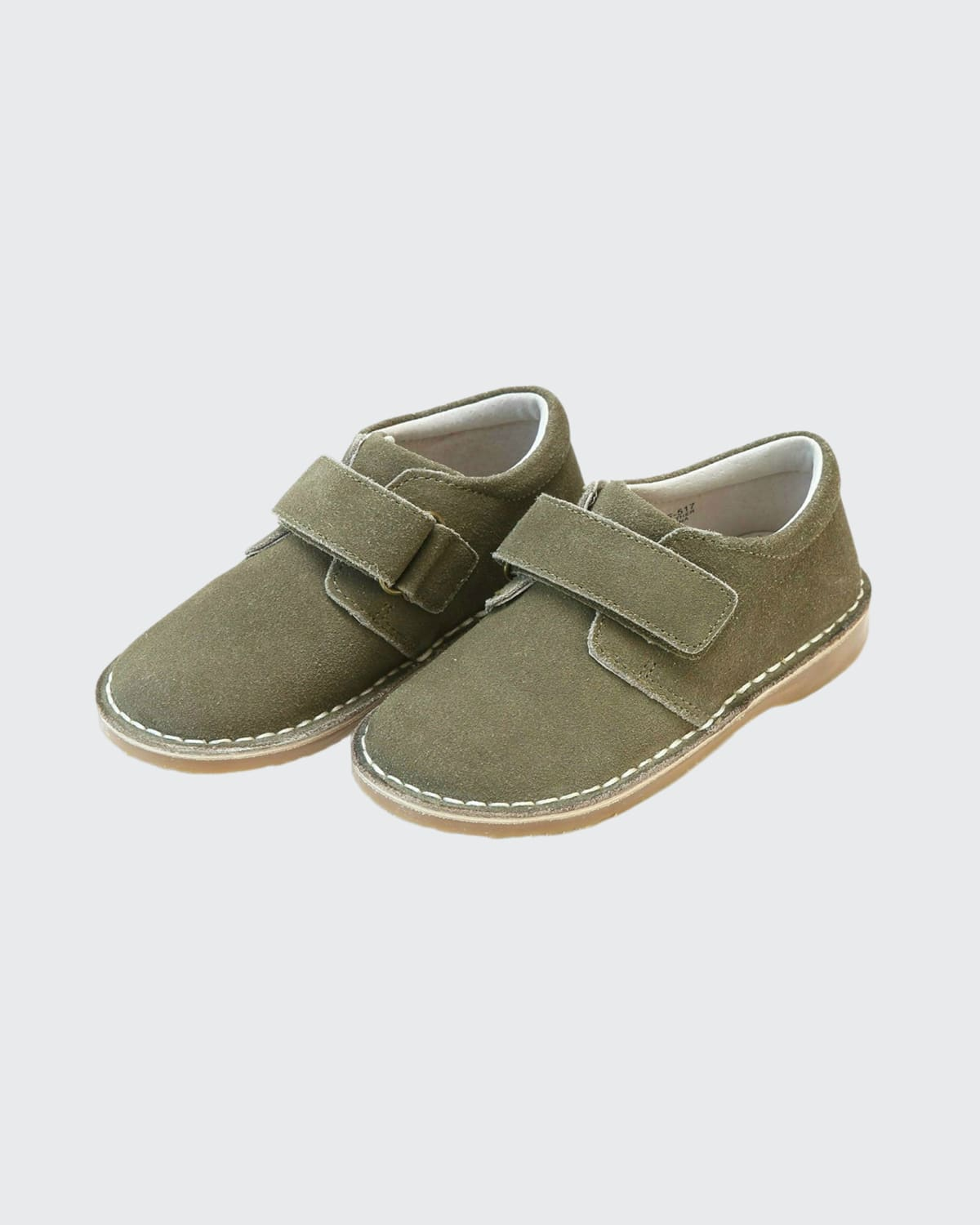 Girl's Suede Grip-Strap Boots