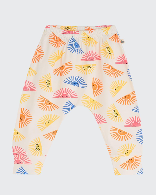 Kid's Palm Sun Printed Pull-On Pants