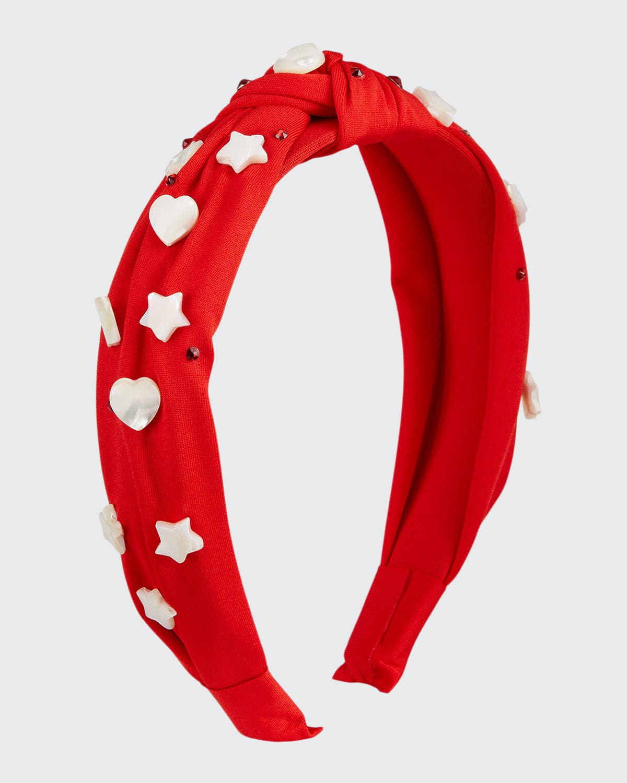 Girl's Heart & Start Bead Crystal Knotted Headband