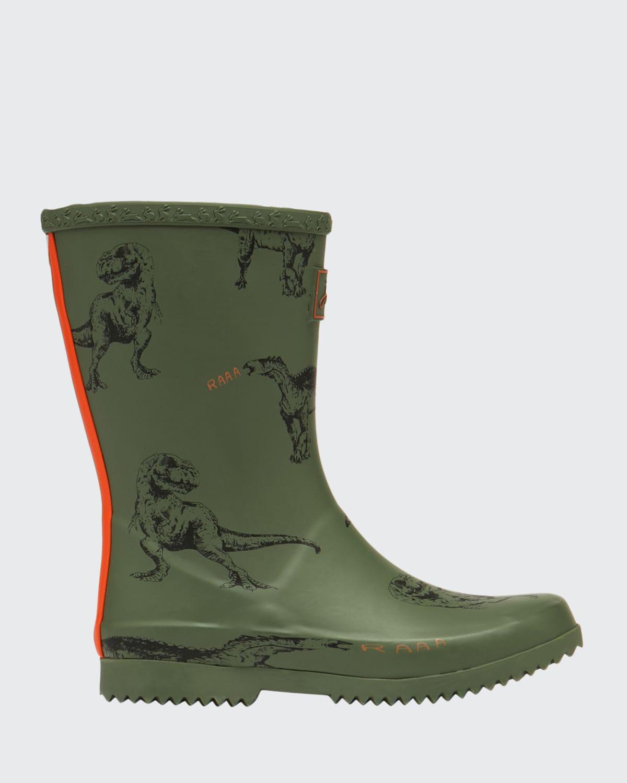 Boy's Dinosaur-Print Welly Rain Boots