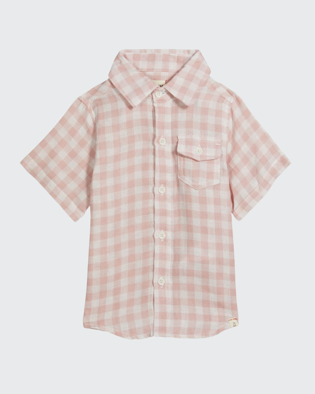 Boy's Newport Check Button-Down Shirt