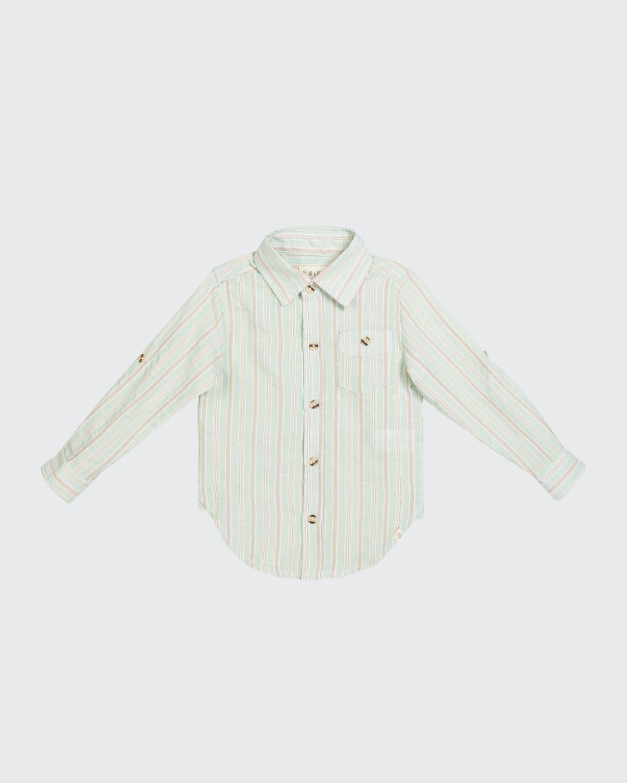 Boy's Merchant Striped Button-Down Shirt