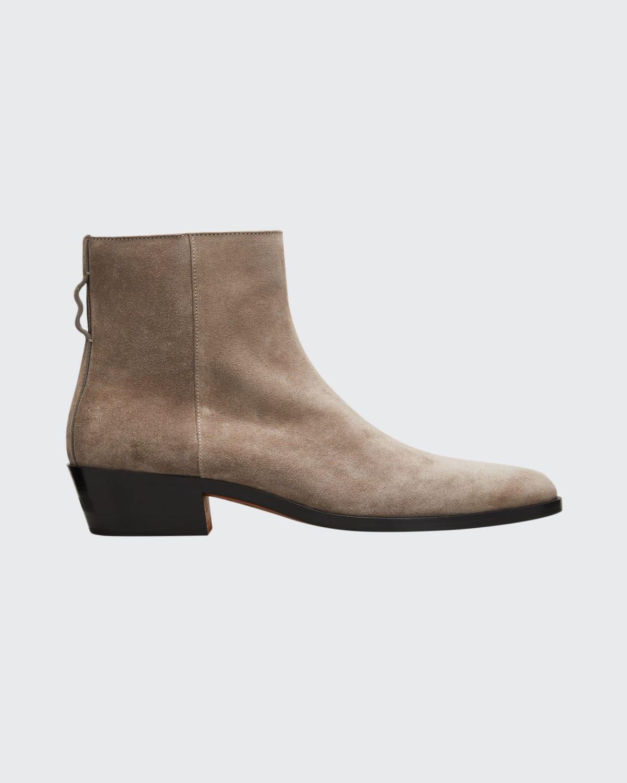 Men's Texan Suede Zip Boots
