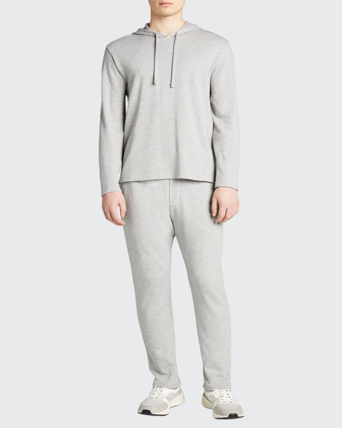 Men's Cozy Double-Knit Pullover Hoodie