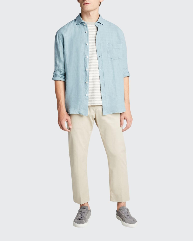 Men's Paul Garment-Dyed Linen Sport Shirt