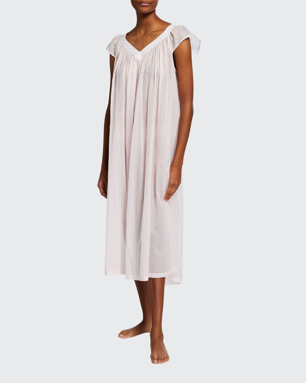 Paulette Cap-Sleeve Cotton Nightgown