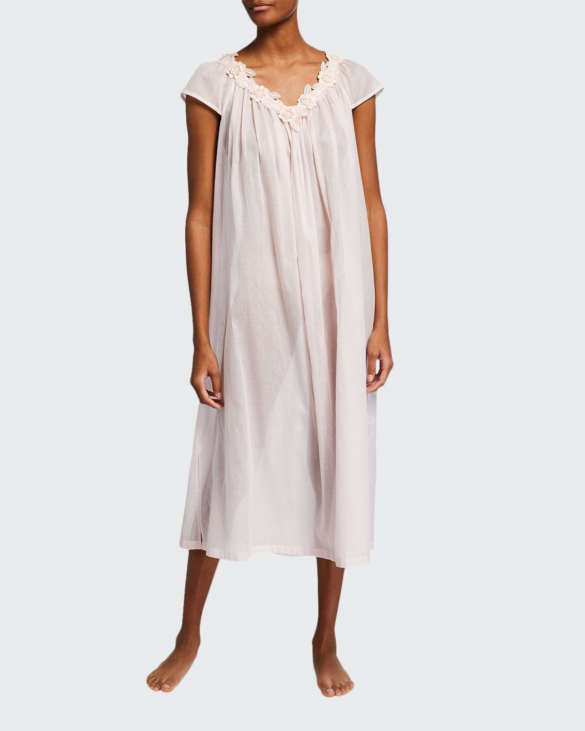 Vicky 2 Cap-Sleeve Long Nightgown
