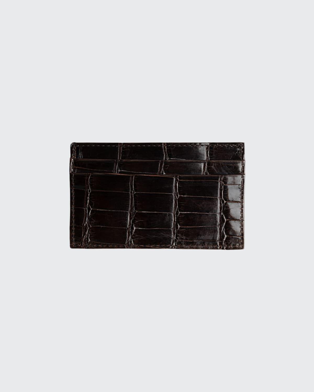 Men's Alligator Leather Card Case