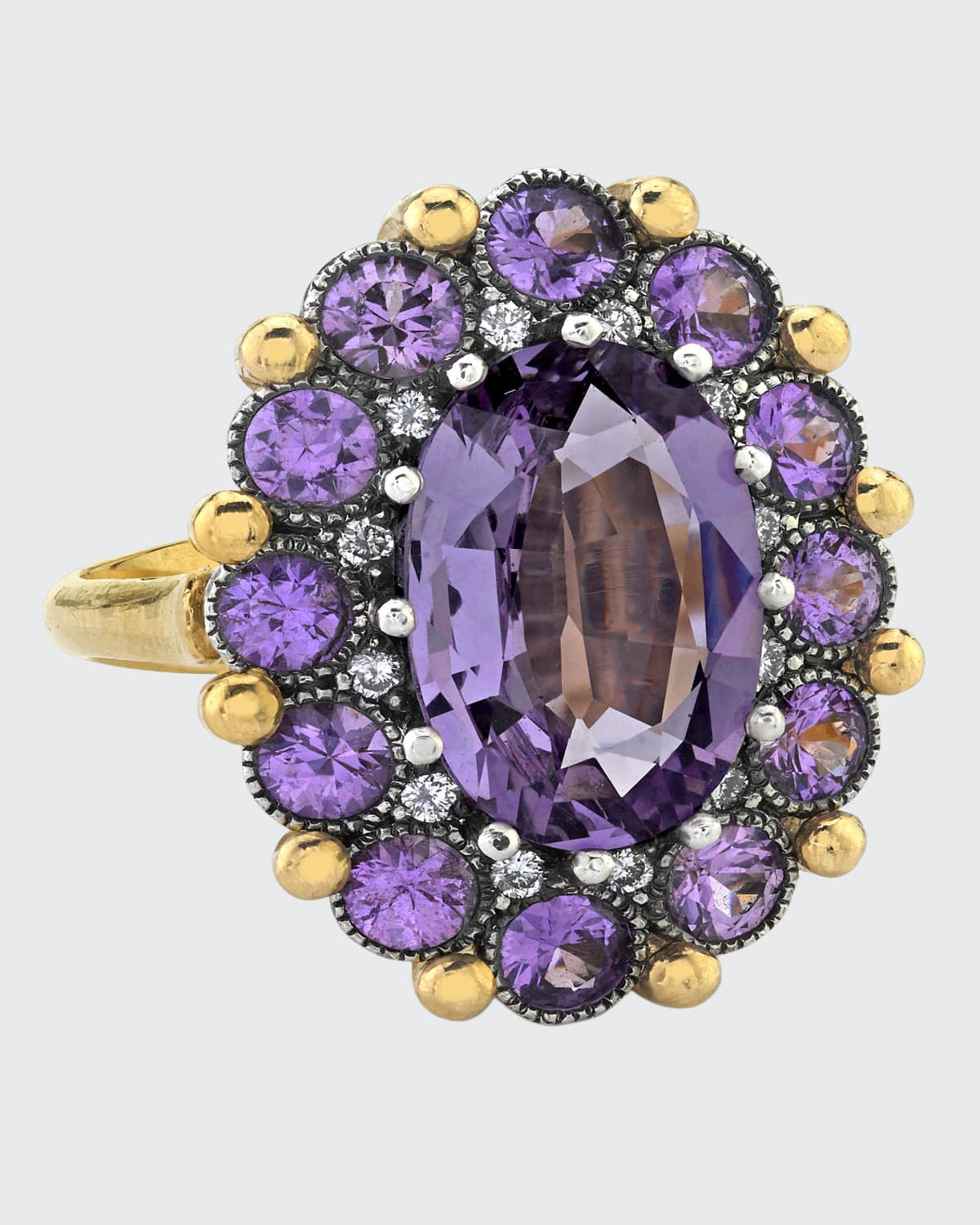 Spinel and Purple Sapphire Ring