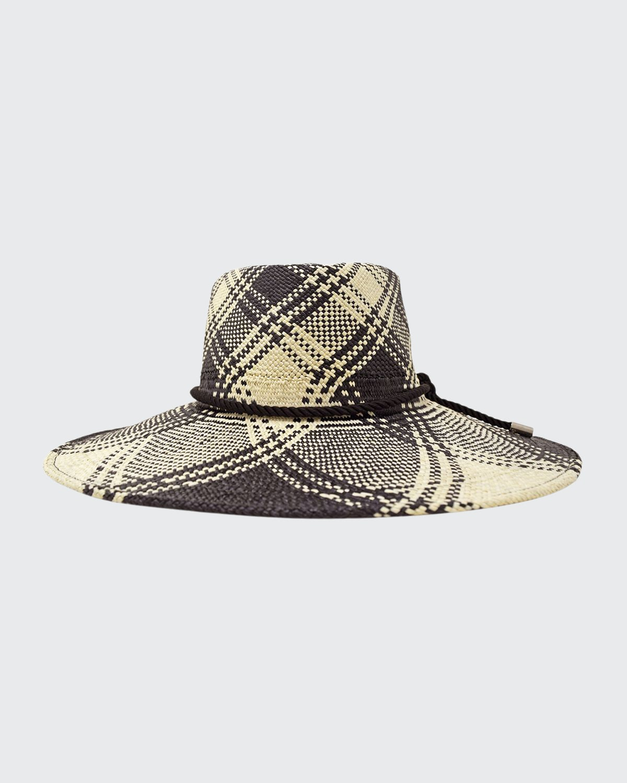 Hilma Handmade Plaid Straw Hat