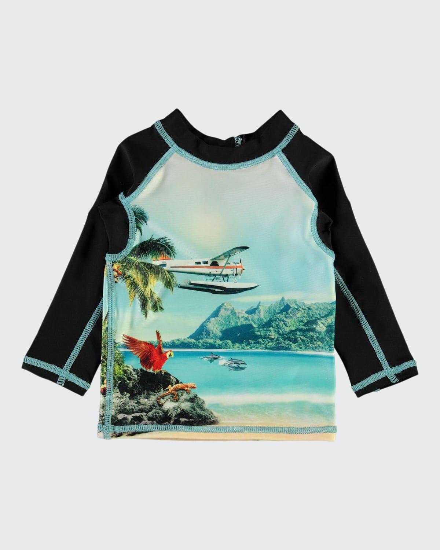 Boy's Nemo Hawaii-Print Long-Sleeve Rash Guard