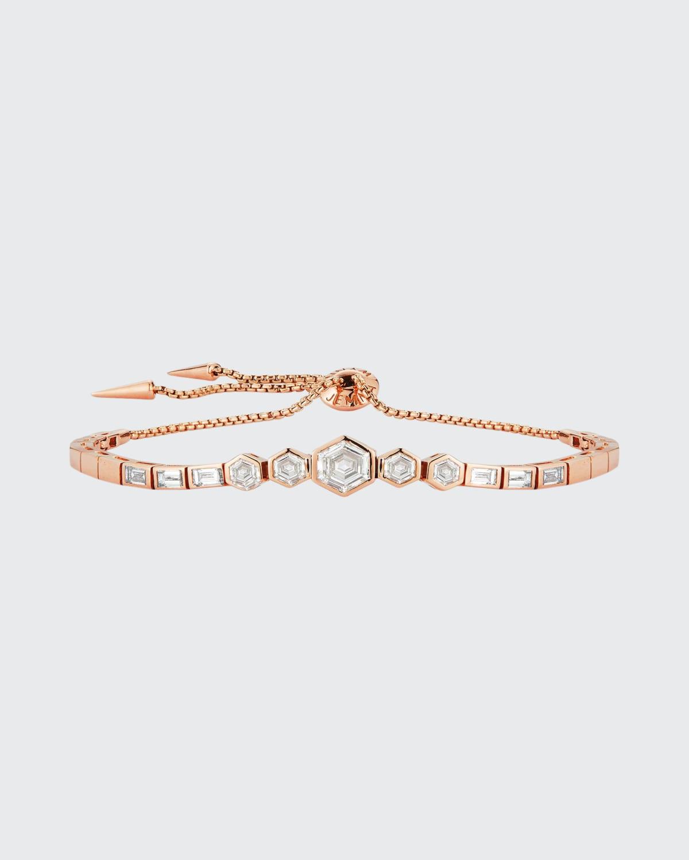 Prive Luxe Slider Diamond Baguette and Hexagon Bracelet